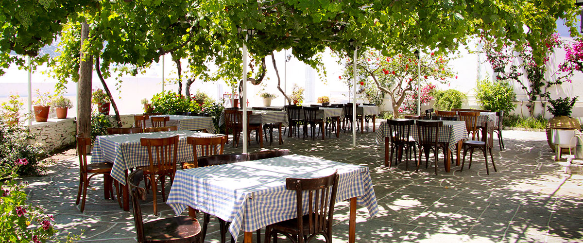 The restaurant Lebessis in Sifnos